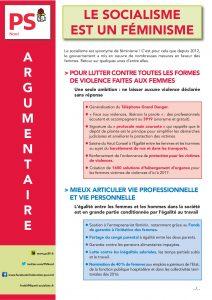 ARGUMENTAIRE - LE SOCIALISME EST UN FEMINISME (8 MARS 2016)