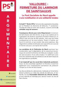 ARGUMENTAIRE - VALLOUREC FERMETURE DU LAMINOIR DE SAINT-SAULVE (2)